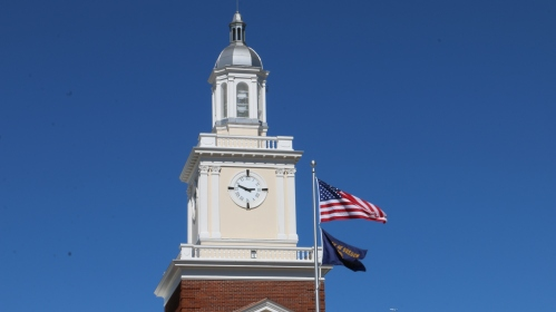 Clock Tower and Flags